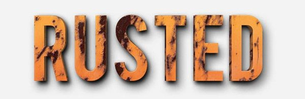 Free Photoshop Rusted Text Style