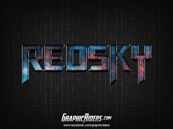 Free SCI-FI Style Text Red Sky