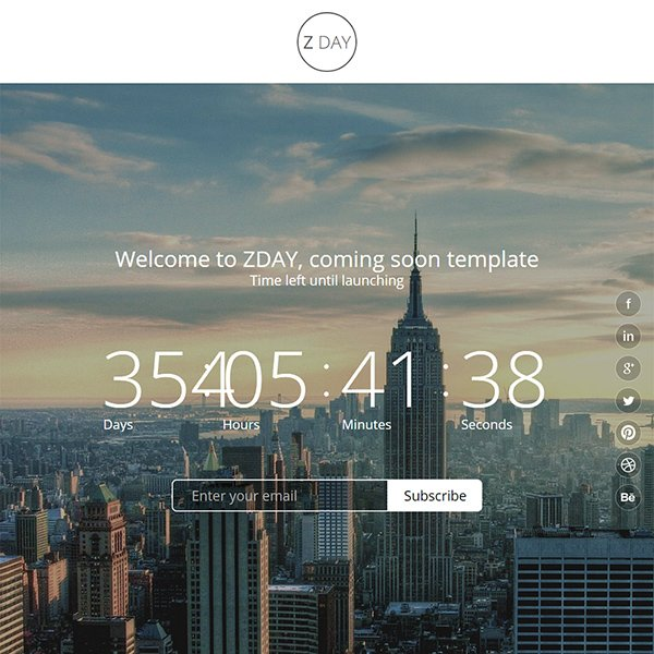 Zday - Coming Soon Template