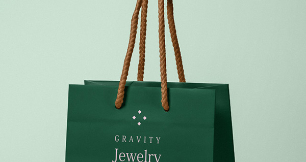 Psd Gravity Paper Bag Mockup