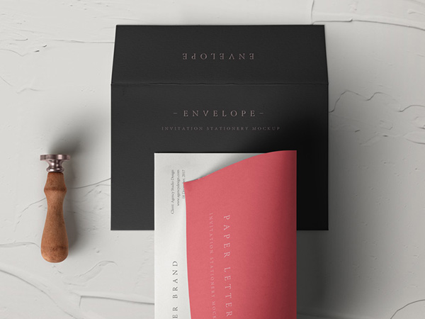 Invitation Envelope Mockup