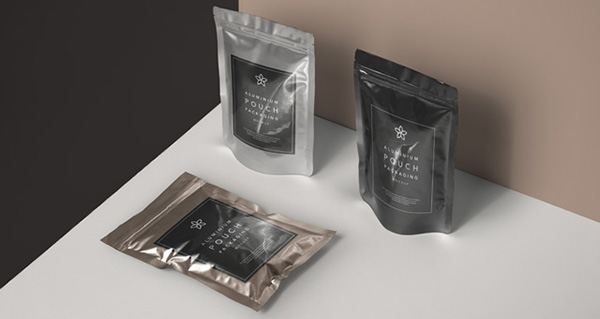 Metal Foil Packaging Mockup Vol2