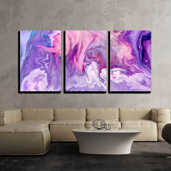 Abstract Purple Marble Wall Art