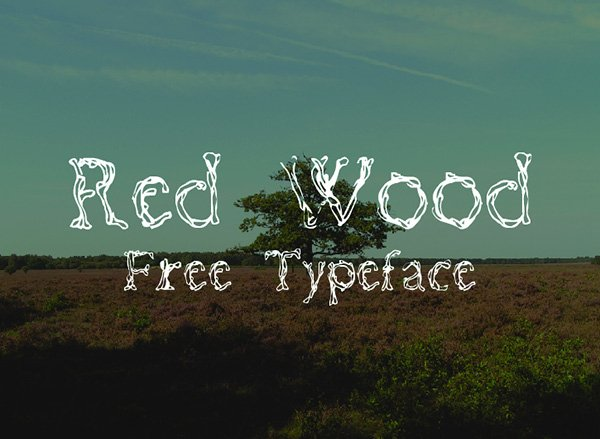 RED WOOD Font