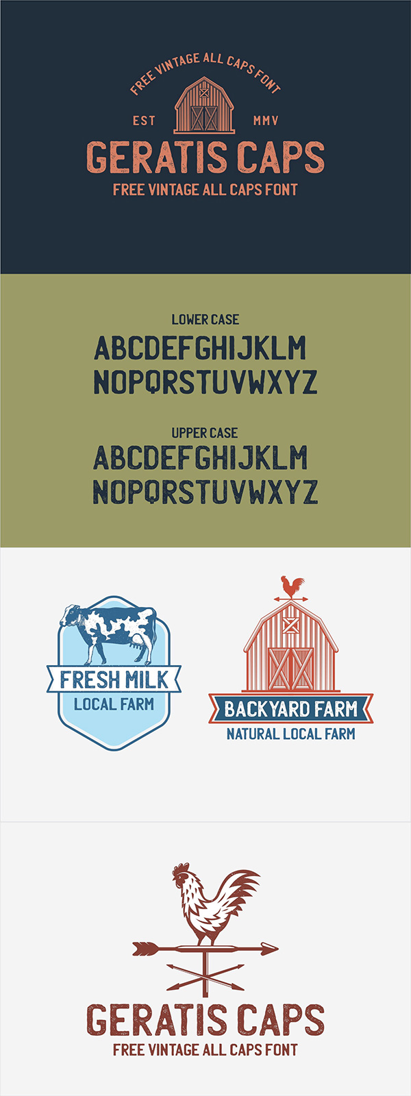Geratis - Free Vintage All Caps Font