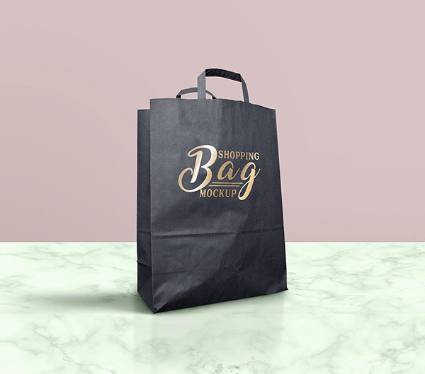 Dark & Light Shopping Bag Mockup Free PSD