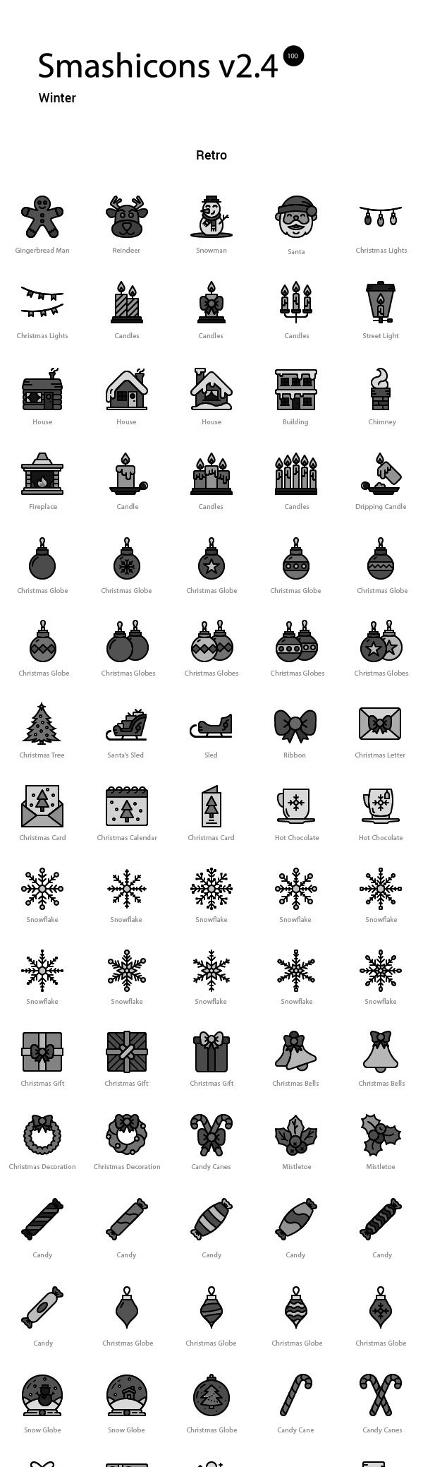 Smashicons: 100 Winter Icons