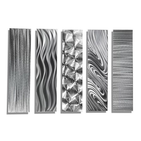 5 Piece Modern Metal Wall Decor Set