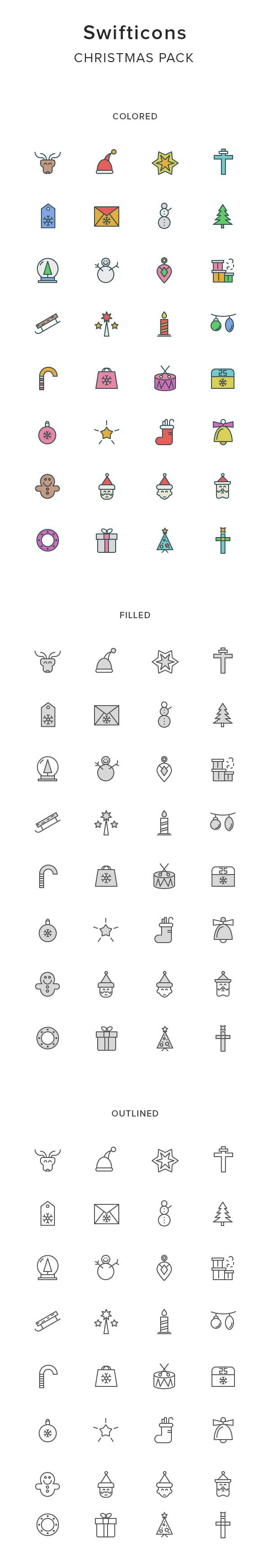Swifticons: 32×3 Christmas Icons