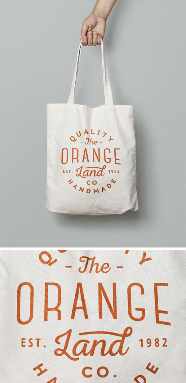 Free Canvas Tote Bag in Hand MockUp