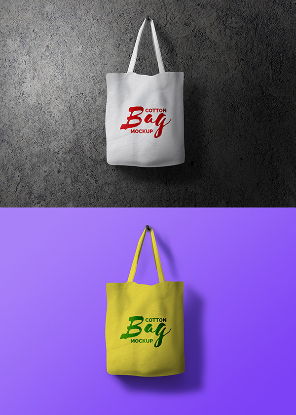 Free Cotton Bag Mockup PSD