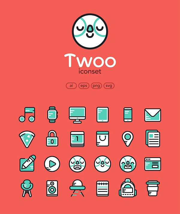Twoo: Free Icon Set
