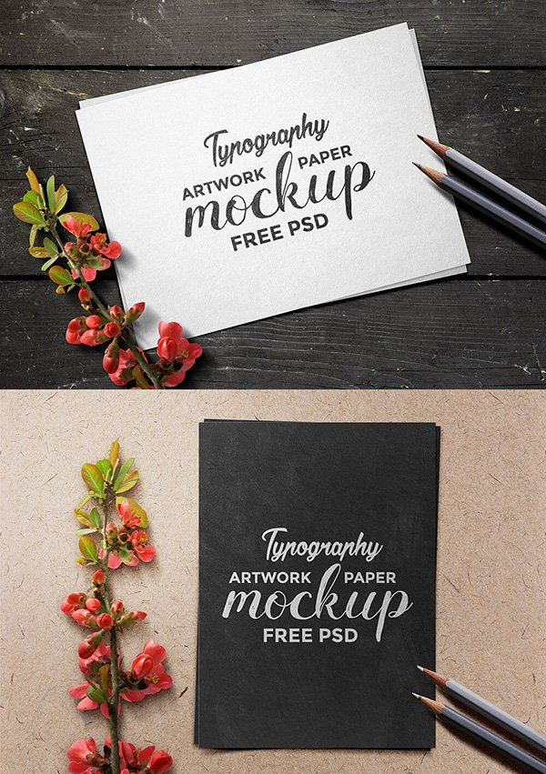 Artwork Paper Mockup PSD