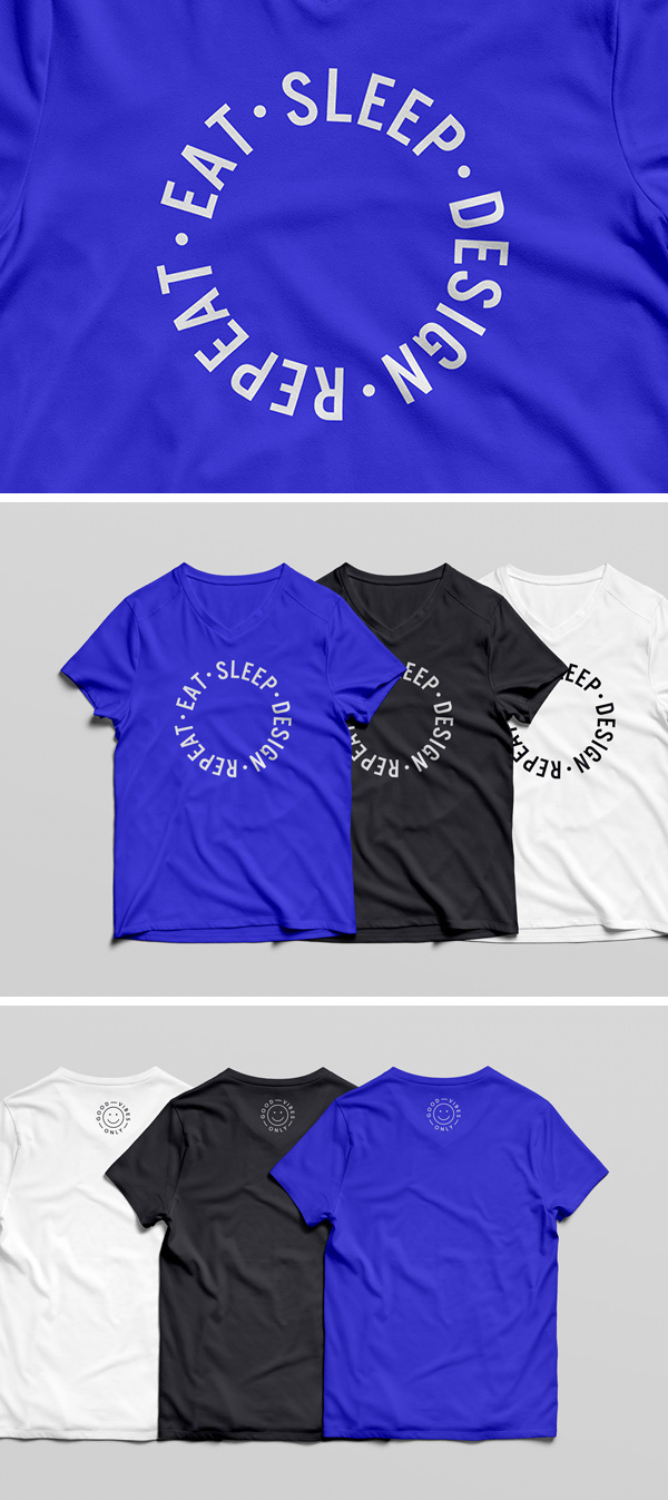 51+ Awesome Free T-Shirt Mock-ups (PSD)