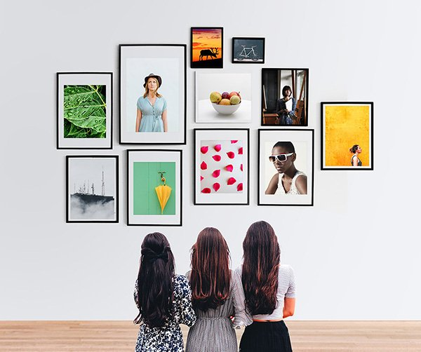 Wall Photo Frames Gallery Mockup