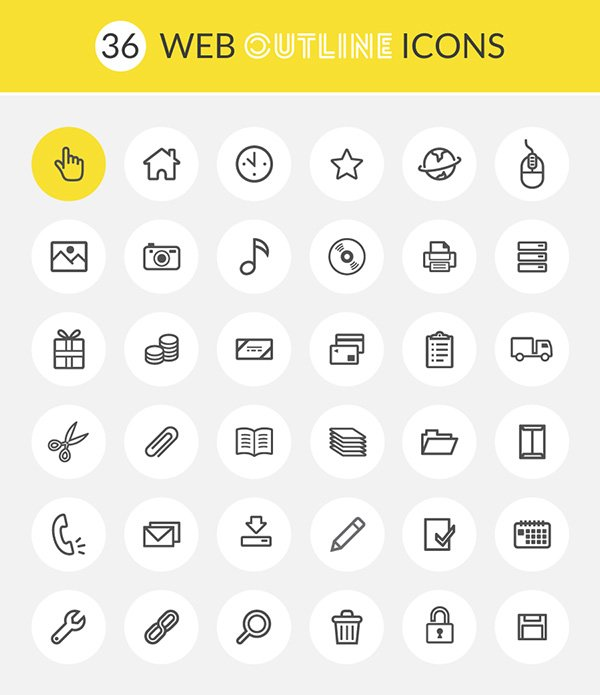 Web Outline Icons – 100% Vectors