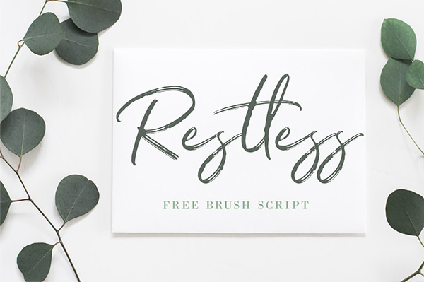 Restless - Free Brush Script