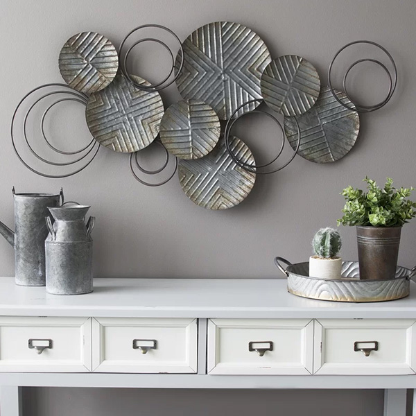 Galvanized Plates Metal Wall Décor