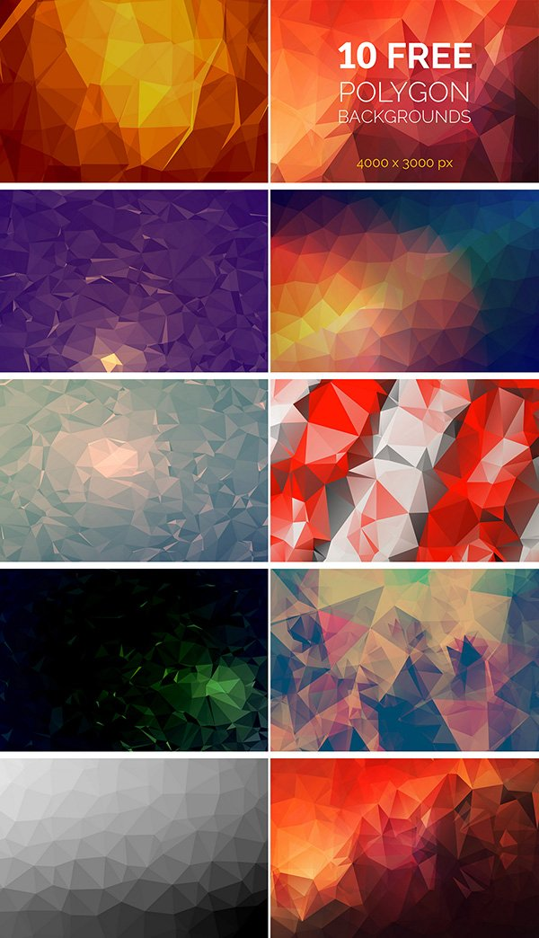 28 wonderful free polygon background packs