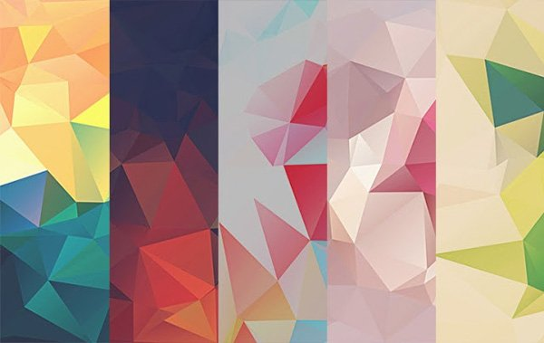 10 Low-Poly Polygonal Texture