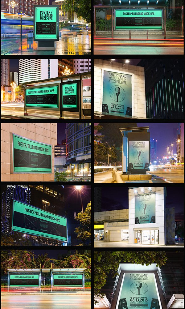 10 Urban Poster/Billboard PSD Templates
