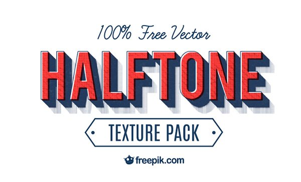 100% Free Vector Halftone Texture Pack by Freepik