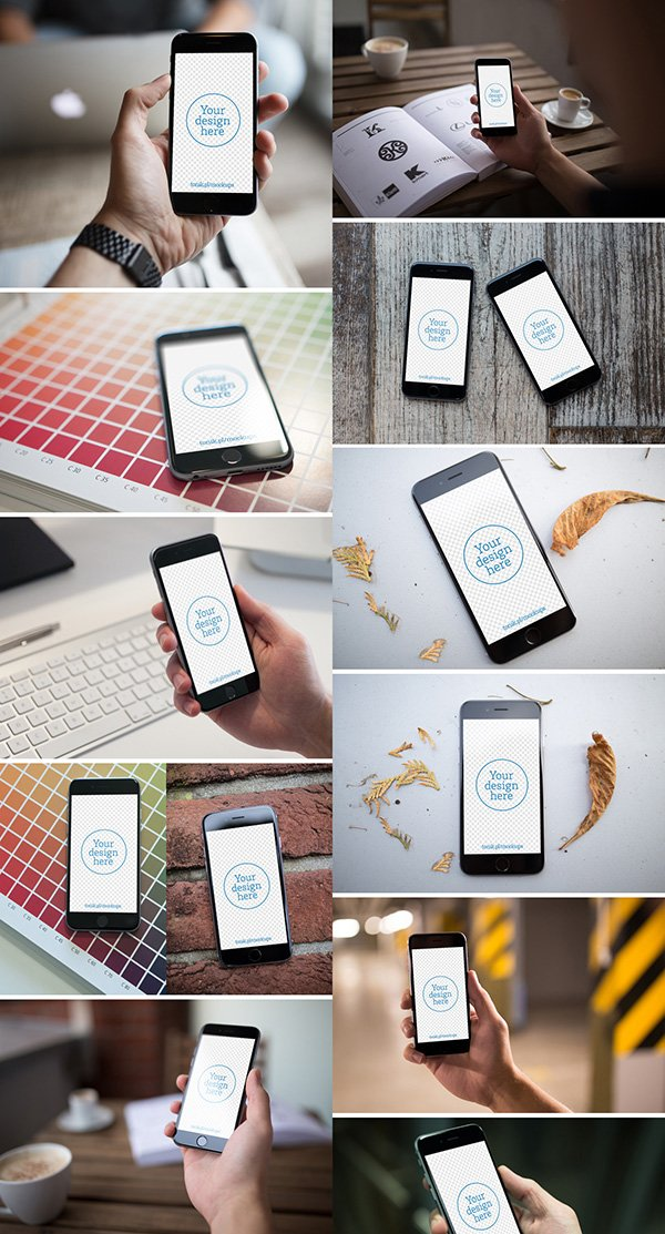 12 iPhone 6 Photo MockUps