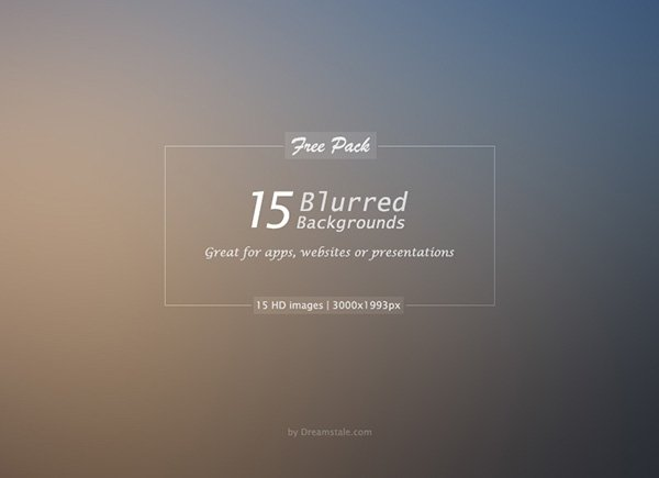 15 HD Free Blurred Backgrounds