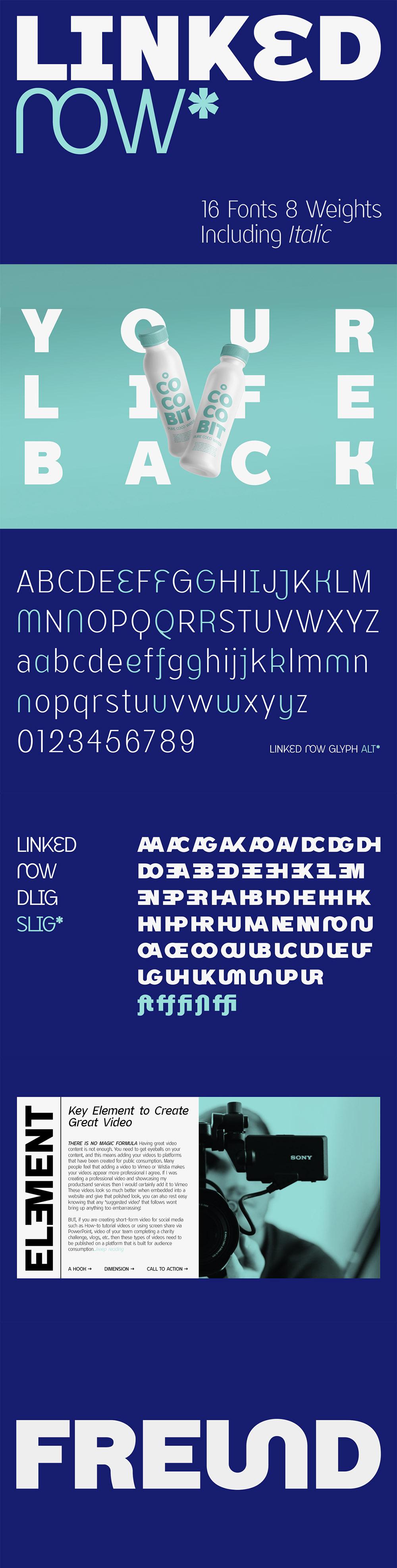 Linked Now - Display Font (Free Weight)