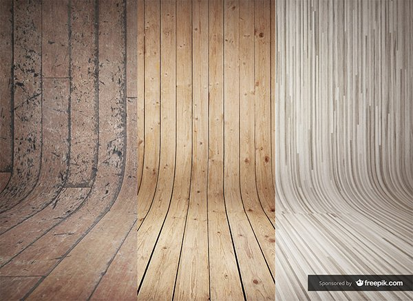 3 Curved Wooden Backdrops Vol.2