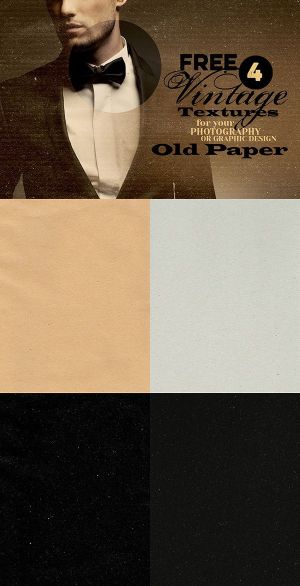 4 Free Vintage Textures – Old Paper
