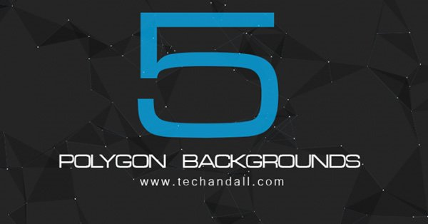 5 Polygon Backgrounds for Website or Print