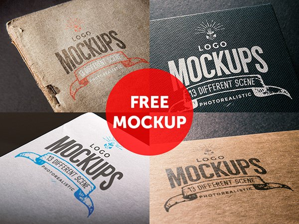 4 Free Logo Mock Up