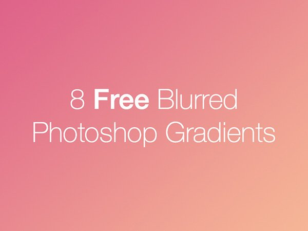8 Free Blurred Photoshop Gradients