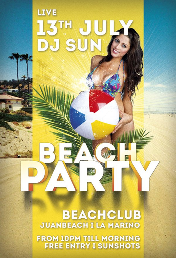 Beach Party Summer Flyer