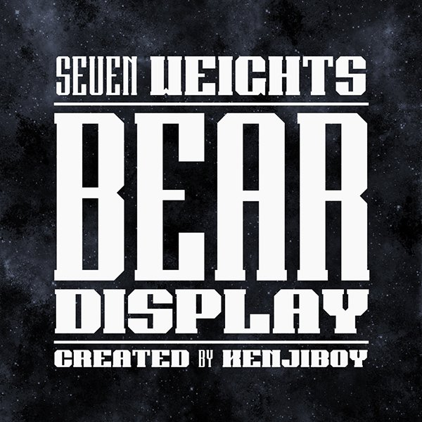Bear Display Font