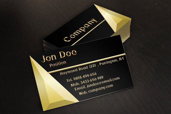 Black and Gold Store Business Card Template PSD