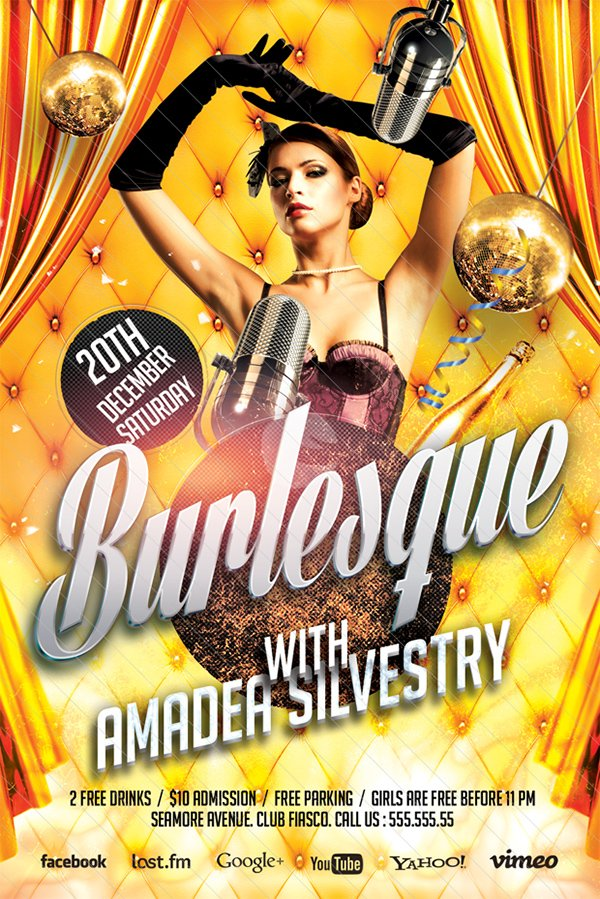 Burlesque Party Flyer