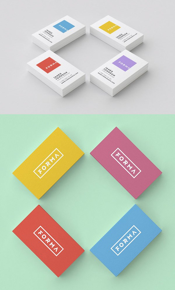 100+ High-Quality Free PSD Business Card Mock-ups ~ Amits IT Blog ...