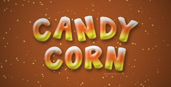 Candy Corn – Inspired Text Effect