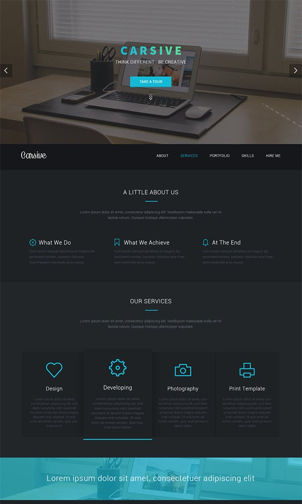 Carsive - Creative Agency PSD Web Template
