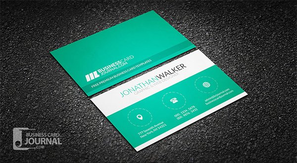 Clean & Minimal Creative Business Card Template