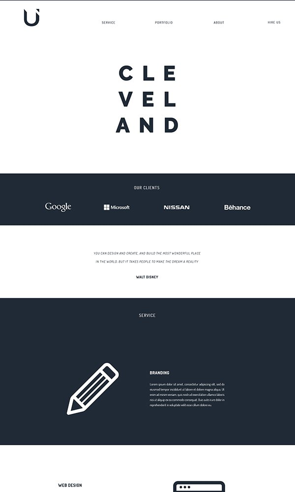 Cleveland One-Page Portfolio Template