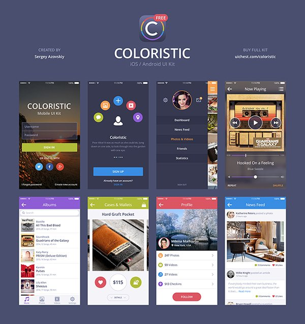 Coloristic UI Kit Free