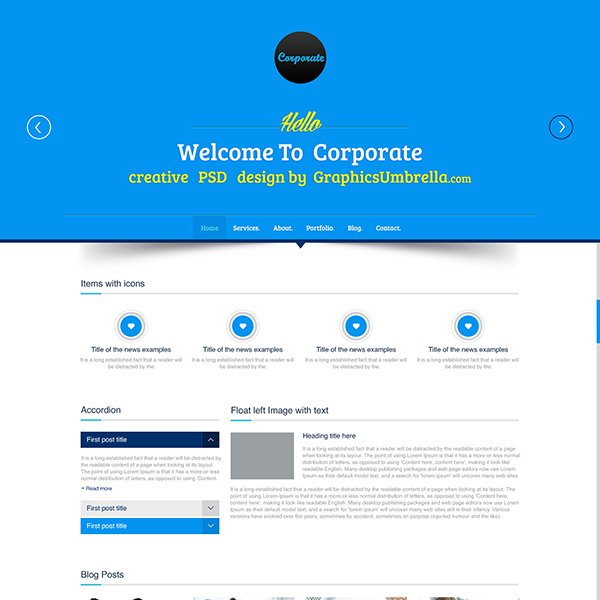 Corporate Business PSD Website Template Vol. 2