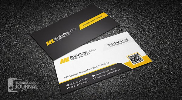 30 amazing free business card psd templates corporate professional qr code business card template accmission