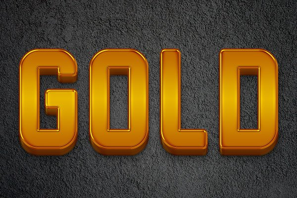 Create A Polished 3D Gold Bars Text Effect