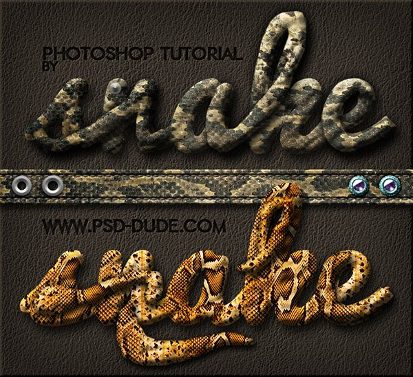 Create A Snake Leather Skin Text In Photoshop
