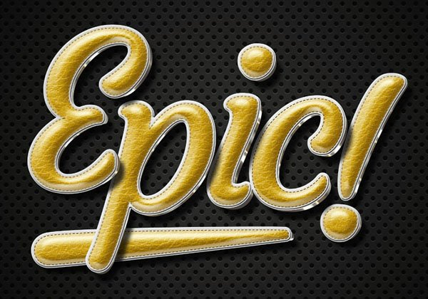 Create a Retro Gold Leather Text Effect in Adobe Photoshop