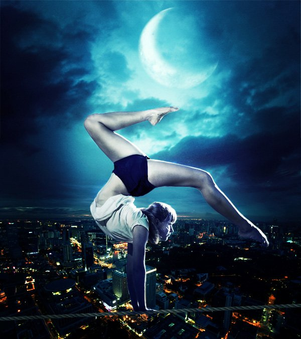 Create this Breathtaking Photo Manipulation of a Tightrope Dancer in Photoshop